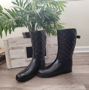 Hunter Womens Original Quilted Gloss Rain Boots